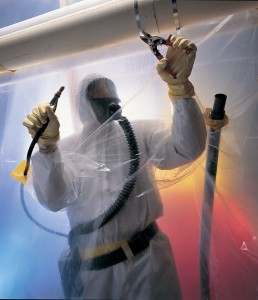 asbestos being removed